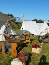 Bjørgvin handsverkslag hadde fire telt på rad / Bjørgvin Handverkslag had four tents in a row