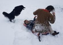 Snøballkrig / Snowball fight