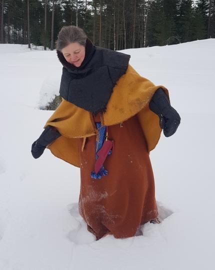 Mye klær og dyp snø / Lots of clothes and deep snow