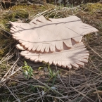 En annen type jernaldersko / Another type of Iron Age shoes