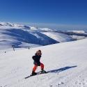 Sigvald i flotte påskeomgivelser / Sigvald posing in the snowy mountains