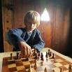 Sigvald ville spille på ordentlig / Sigvald taking the fotoshoot chess game a bit seriously