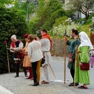 Høytideligheter skal markeres med en salutt / Salute with medieval handgonnes