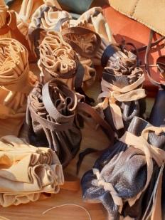 Lenas kopier av pung fra Bryggen / Lena's replika of pouch from Bryggen