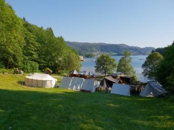 Teltene i Bjorvika / The tents at the fjord