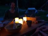 Elektriske stearinlys på grunn av ildforbudet / Electrical candles because all flames were forbidden