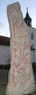 Ledbergsteinen: En detaljert, men litt mindre dramatisk fremstilling av endetidens finale / The Lendberg stone: A detailed, but slightly less dramatic depiction of the end of days