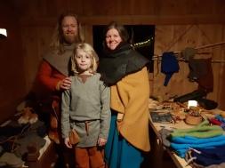 Den harde kjernen av Fortidsfamilien, Espen, Lena og Sigvald / The last remaining members of the Past Time Family: Espen, Lena og Sigvald
